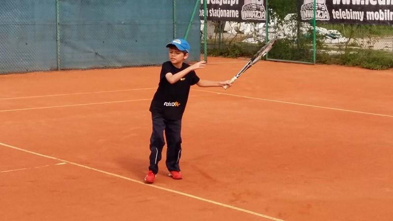 Damian Lewandowski na turnieju w Łęcznej