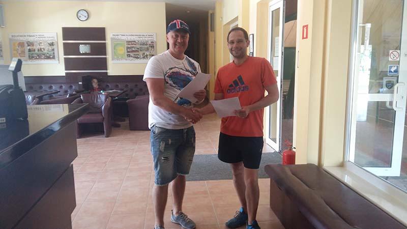 Podpisanie umowy na sponsoring Damiana